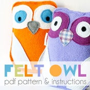 Image of Felt Owl PDF Pattern &amp; Instructions