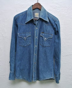 Image of 1970s Lee denim shirt (S)