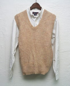 Image of Vintage ivy league knitted vest (S)
