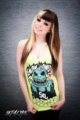 Image of S4L LADIES 'LEMON MONSTER' NEON TANK