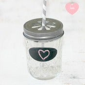 Image of Set of 6 lemonade Jars + Lids