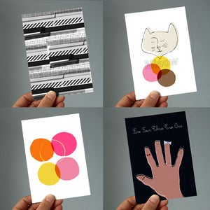 Image of Neopolitan set of 4 postcards