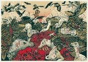 Image of Venue of Vultures Upon a Pomegranate, Limited Giclee Print