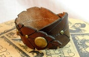 Image of Leather Leaves Cuff