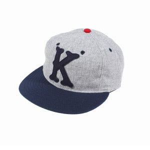 Kloud Clothing Co. X Ebbets field flannels Grey/Navy cap
