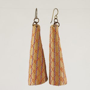 Image of Emily Floyd Leather Cone Earrings