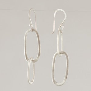 Image of Bridget Clark Asymmetrical Double Oval Earrings