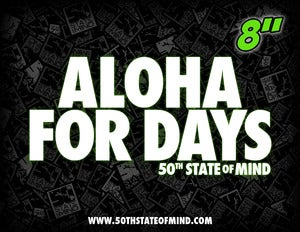 Image of Aloha For Days - Decal - 8 Inch