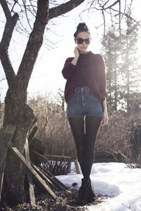 Image of Whyred high waist denim shorts