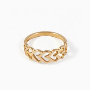 Image of Heart Braid Ring | Golden