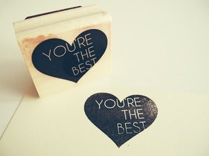 Image of You're the Best Rubber Stamp