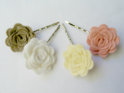 Image of Hair slide - Peaches and Cream palette