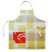 Image of apron in tartan primrose