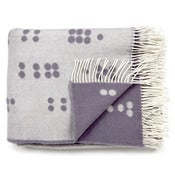Image of Wool throw, Dot grey