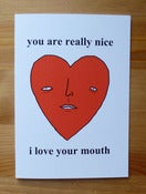 Image of Love card - i love your mouth