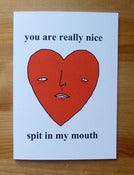 Image of Love card - spit in my mouth