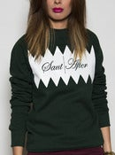 Image of SA ZigZag Sweatshirt - Green - Womens