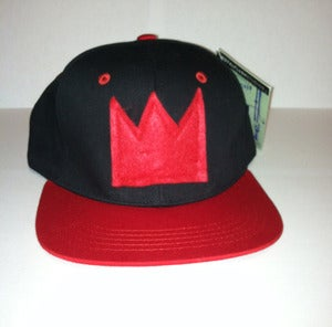 Image of Black/Red Crown SnapBack