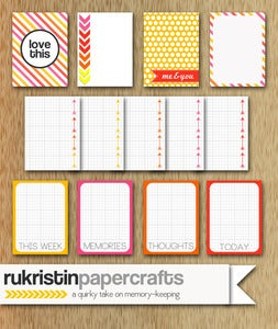 Image of Candy Shop Journaling Cards