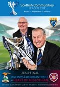 Image of HEARTS v Inverness - Communities Cup Semi Final Programme