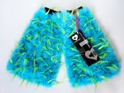 Image of Spiked fluffies uv turquoise/lime
