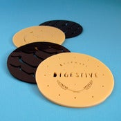 Image of Chocolate Digestive Biscuit Coasters - Set of Four