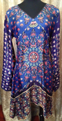 Image of Johnny Was Silk Paisley Dress SZ M