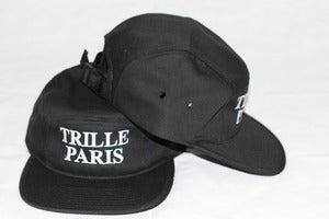 Image of Trille De Luxe Trille Paris 5 Panel Hat - Black