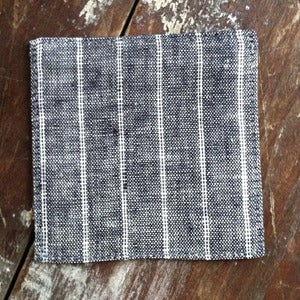 Image of Coasters: Navy White Stripe
