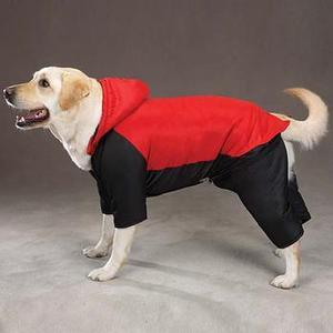 Image of Canine 2-in-1 Dog Snowsuit- Red & Blue