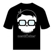Image of OFFICIAL NERDLOCKER SKULLY BLACK AND WHITE T-SHIRT