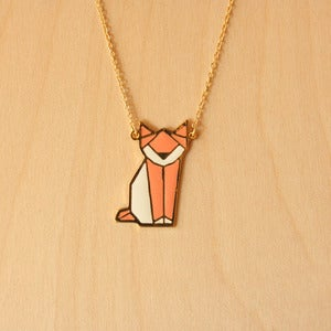 Image of Origami necklaces: Cat