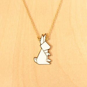 Image of Origami necklaces: Rabbit
