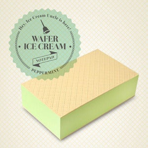 Image of Wafer Ice Cream Notepad - Peppermint