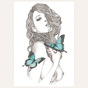 Image of 'Blue' original drawing by lodie