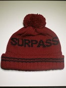 Image of Surpass Pom Beanie - Burgundy