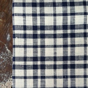 Image of Kitchen Cloth: Beige Navy Plaid