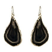 Image of Black Agate Earrings