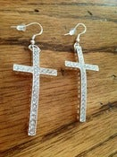 "Image of ""Shine"" Cross Earrings"