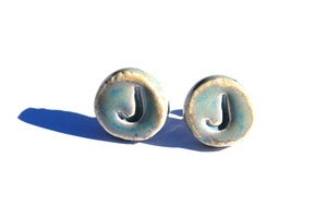 Image of &quot;J&quot; Stud Earrings (Small)