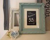 Image of Framed vintage shop price card