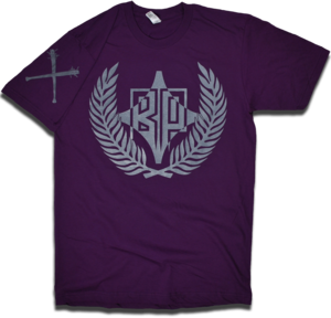 "Image of ""Mob Mentality"" in Deep Purple w/Spiked Bat Sleeve by Backpage Press"