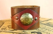 Image of Geometric Leather Cuff