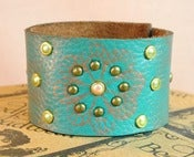 Image of Art Deco Leather Cuff