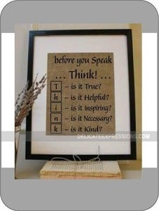 Image of Before You Speak...Think...