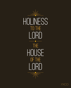 Image of Holiness to the Lord - Printable PDF