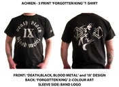 Image of Death,Black,Blood Metal / Forgotten King 3 Print T-Shirt