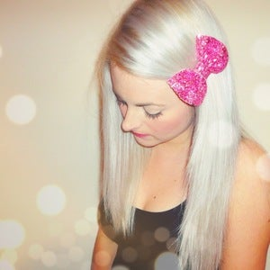Image of MINI Glitter Bow Hair Clip (Available in 17 different colours)