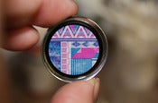 Image of Pink & Purple Aztec Pattern Plugs