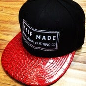 Image of Raw Caviar Patch Self Made Stitch with Red Embossed Croc Bill